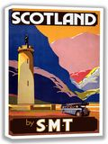 Scotland by S.M.T. Vintage Bus Travel Canvas. Sizes: A4/A3/A2/A1 (002702)